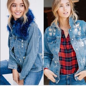 ⚡️The Blue Fur Jean Jacket
